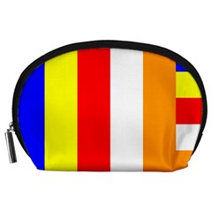 International Flag Of Buddhism Accessory Pouches (large)  by abbeyz71