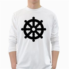 Dharmacakra White Long Sleeve T-shirts by abbeyz71