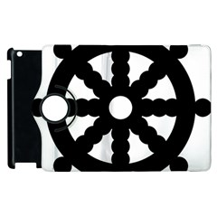 Dharmacakra Apple Ipad 2 Flip 360 Case by abbeyz71