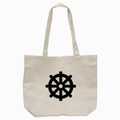 Dharmacakra Tote Bag (cream) by abbeyz71