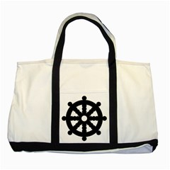 Dharmacakra Two Tone Tote Bag by abbeyz71