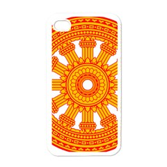 Dharmacakra Apple Iphone 4 Case (white) by abbeyz71