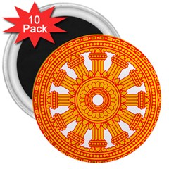 Dharmacakra 3  Magnets (10 Pack)  by abbeyz71