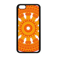 Dharmacakra Apple Iphone 5c Seamless Case (black) by abbeyz71