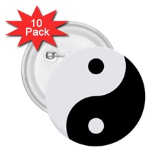 Yin & Yang 2 25  Buttons (10 Pack)  by abbeyz71