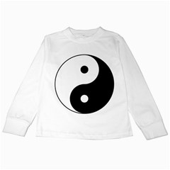 Yin & Yang Kids Long Sleeve T-shirts by abbeyz71