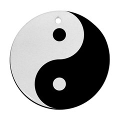 Yin & Yang Round Ornament (two Sides) by abbeyz71