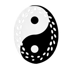 Yin & Yang Oval Filigree Ornament (two Sides) by abbeyz71