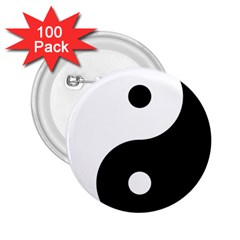 Yin & Yang 2 25  Buttons (100 Pack)  by abbeyz71