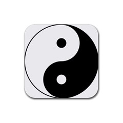 Yin & Yang Rubber Square Coaster (4 Pack)  by abbeyz71