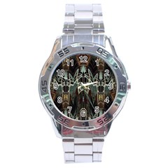 Urban Industrial Rust Grunge Stainless Steel Analogue Watch