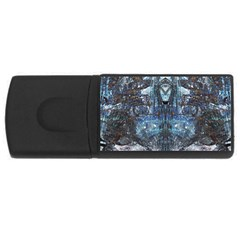 Angel Wings Blue Grunge Texture Usb Flash Drive Rectangular (4 Gb) by CrypticFragmentsDesign