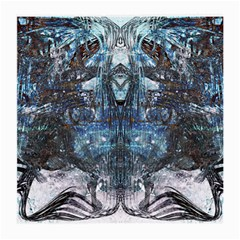 Angel Wings Blue Grunge Texture Medium Glasses Cloth (2 Side) by CrypticFragmentsDesign