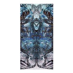 Angel Wings Blue Grunge Texture Shower Curtain 36  X 72  (stall)  by CrypticFragmentsDesign