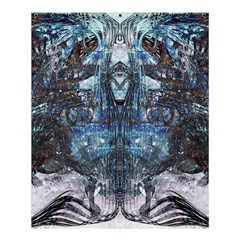 Angel Wings Blue Grunge Texture Shower Curtain 60  X 72  (medium)  by CrypticFragmentsDesign