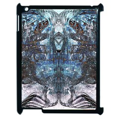 Angel Wings Blue Grunge Texture Apple Ipad 2 Case (black) by CrypticFragmentsDesign