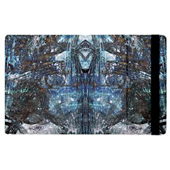 Angel Wings Blue Grunge Texture Apple Ipad 2 Flip Case by CrypticFragmentsDesign