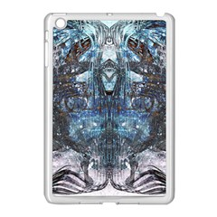 Angel Wings Blue Grunge Texture Apple Ipad Mini Case (white) by CrypticFragmentsDesign