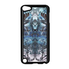 Angel Wings Blue Grunge Texture Apple Ipod Touch 5 Case (black) by CrypticFragmentsDesign