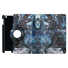 Angel Wings Blue Grunge Texture Apple Ipad 2 Flip 360 Case by CrypticFragmentsDesign