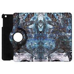 Angel Wings Blue Grunge Texture Apple Ipad Mini Flip 360 Case by CrypticFragmentsDesign