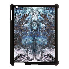Angel Wings Blue Grunge Texture Apple Ipad 3/4 Case (black) by CrypticFragmentsDesign