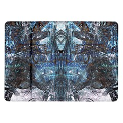 Angel Wings Blue Grunge Texture Samsung Galaxy Tab 10 1  P7500 Flip Case by CrypticFragmentsDesign