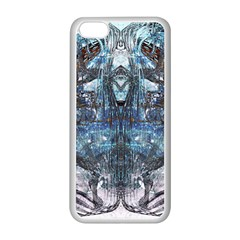 Angel Wings Blue Grunge Texture Apple Iphone 5c Seamless Case (white) by CrypticFragmentsDesign