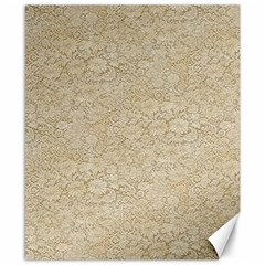 Old Floral Crochet Lace Pattern Beige Bleached Canvas 8  X 10  by EDDArt