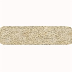 Old Floral Crochet Lace Pattern Beige Bleached Large Bar Mats by EDDArt
