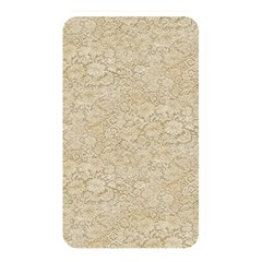 Old Floral Crochet Lace Pattern Beige Bleached Memory Card Reader by EDDArt