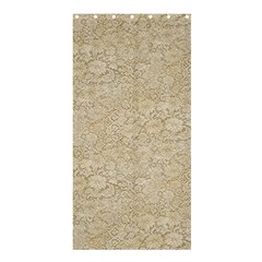 Old Floral Crochet Lace Pattern Beige Bleached Shower Curtain 36  X 72  (stall)  by EDDArt