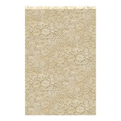 Old Floral Crochet Lace Pattern Beige Bleached Shower Curtain 48  X 72  (small)  by EDDArt