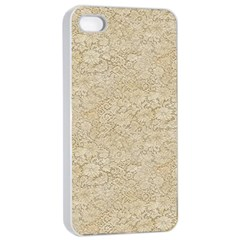 Old Floral Crochet Lace Pattern Beige Bleached Apple Iphone 4/4s Seamless Case (white) by EDDArt