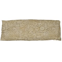 Old Floral Crochet Lace Pattern Beige Bleached Body Pillow Case Dakimakura (two Sides) by EDDArt