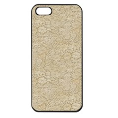 Old Floral Crochet Lace Pattern Beige Bleached Apple Iphone 5 Seamless Case (black) by EDDArt