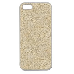 Old Floral Crochet Lace Pattern Beige Bleached Apple Seamless Iphone 5 Case (clear) by EDDArt