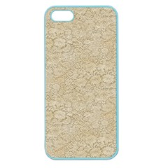 Old Floral Crochet Lace Pattern Beige Bleached Apple Seamless Iphone 5 Case (color) by EDDArt
