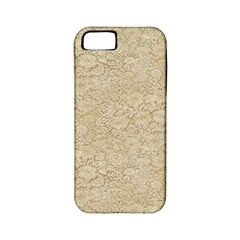 Old Floral Crochet Lace Pattern Beige Bleached Apple Iphone 5 Classic Hardshell Case (pc+silicone) by EDDArt