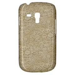 Old Floral Crochet Lace Pattern Beige Bleached Galaxy S3 Mini by EDDArt