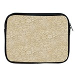 Old Floral Crochet Lace Pattern beige bleached Apple iPad 2/3/4 Zipper Cases Front