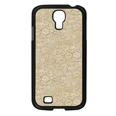 Old Floral Crochet Lace Pattern Beige Bleached Samsung Galaxy S4 I9500/ I9505 Case (black) by EDDArt