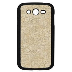 Old Floral Crochet Lace Pattern Beige Bleached Samsung Galaxy Grand Duos I9082 Case (black) by EDDArt