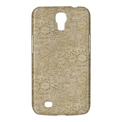 Old Floral Crochet Lace Pattern Beige Bleached Samsung Galaxy Mega 6 3  I9200 Hardshell Case by EDDArt