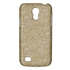 Old Floral Crochet Lace Pattern Beige Bleached Galaxy S4 Mini by EDDArt
