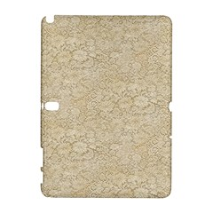 Old Floral Crochet Lace Pattern Beige Bleached Galaxy Note 1 by EDDArt