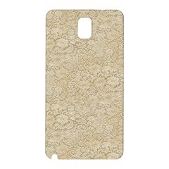 Old Floral Crochet Lace Pattern Beige Bleached Samsung Galaxy Note 3 N9005 Hardshell Back Case by EDDArt