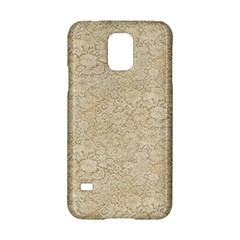 Old Floral Crochet Lace Pattern Beige Bleached Samsung Galaxy S5 Hardshell Case  by EDDArt