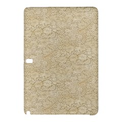 Old Floral Crochet Lace Pattern Beige Bleached Samsung Galaxy Tab Pro 10 1 Hardshell Case by EDDArt