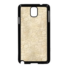 Old Floral Crochet Lace Pattern Beige Bleached Samsung Galaxy Note 3 Neo Hardshell Case (black) by EDDArt